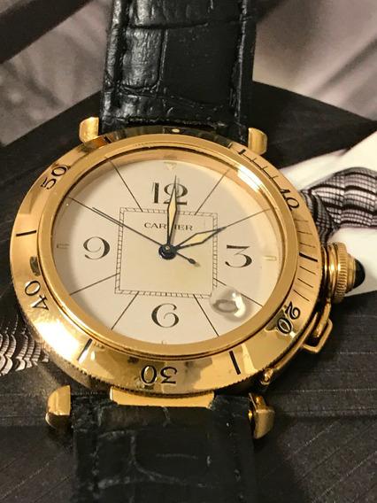 Cartier Pasha 40mm Em Ouro