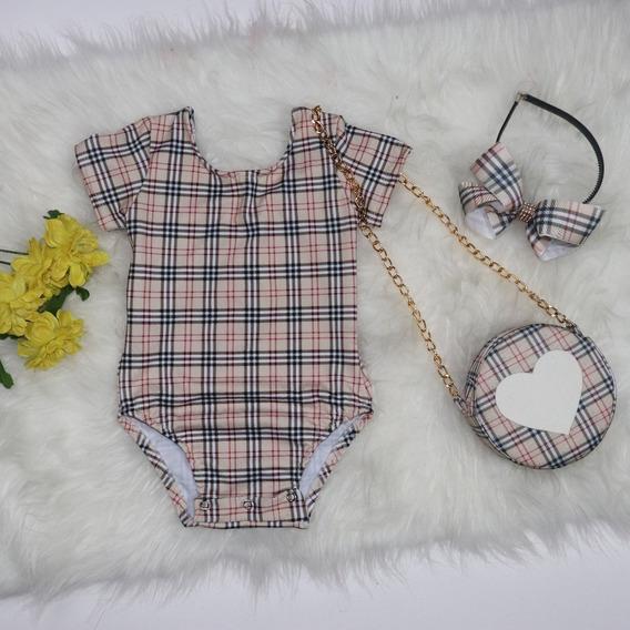 Body Infantil E Bolsa - Baby Mini Diva - Fashion + Brinde