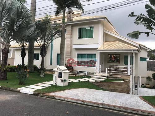 Casa Com 4 Dormitórios À Venda, 500 M² Por R$ 3.000.000,00 - Condomínio Arujá 5 - Arujá/sp - Ca1445