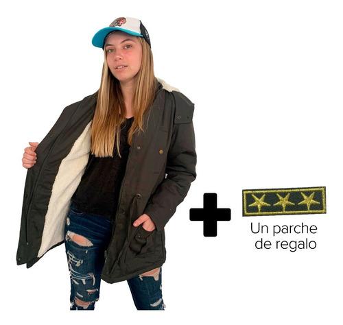 Customs Ba Camperas Mujer Parka Corderito Campera Invierno B
