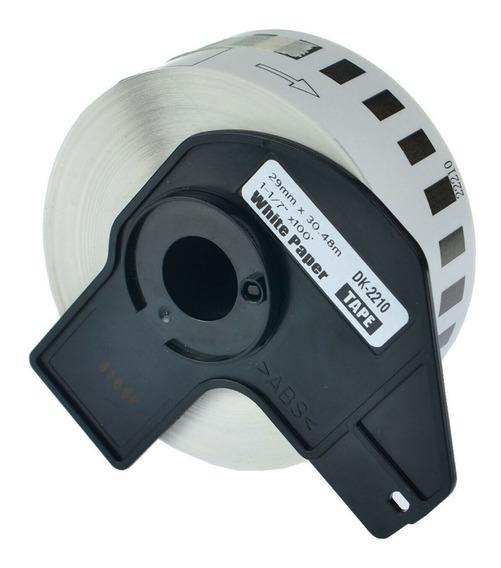 Rollo Etiquetas Dk 2210 29mm X 30mts Con Eje Ql800 Ql700