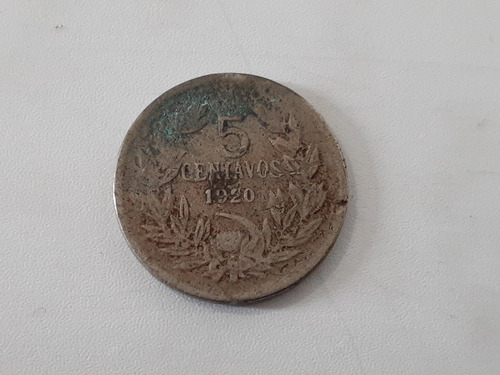 Moneda Chile 5 Centavos 1920 Niquel  F+  (ch45