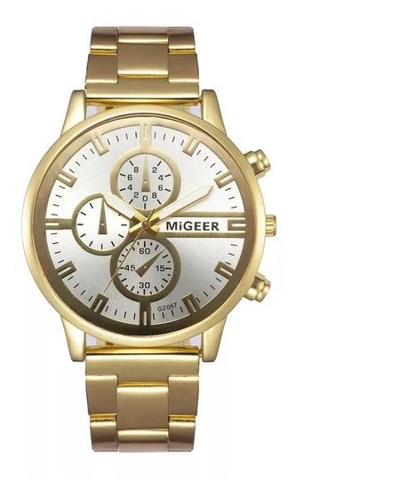 Kit 3 Relógio Quartzo Migeer Feminino Lindo