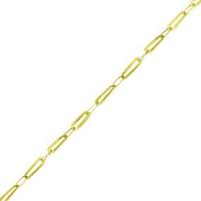 Corrente Ouro 18k Elos Alternados 50cm 2,2g