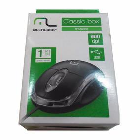 Mouse Multilaser Mo179 Usb Classic Box Preto