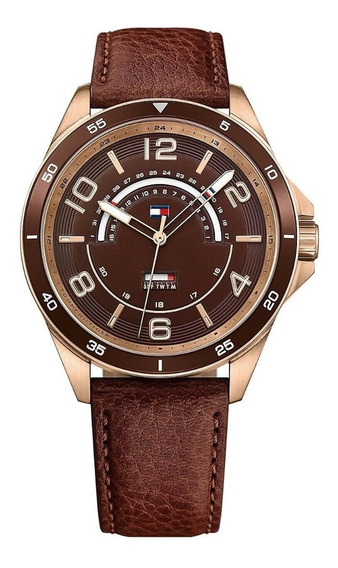 Relógio Masculino Tommy Hilfiger Couro Marrom - 1791392