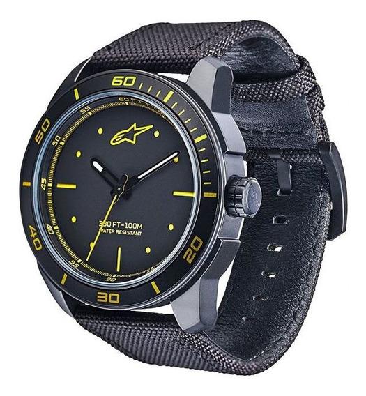 Relogio Tech 3h Preto Amarelo Alpinestars 40% Off