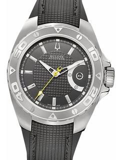 Reloj Bulova Accutron Automatico 63b130 Suizo Zafiro 30 Atm