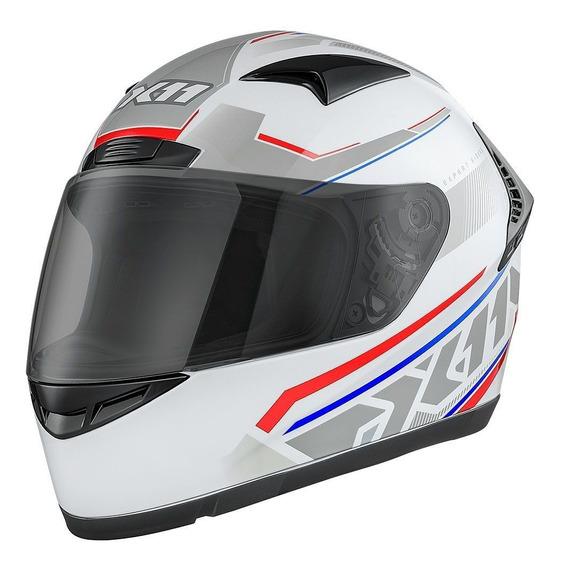 Capacete Promoção X11 Volt Dash Branco Tricolor Moto 58