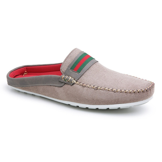 Mule Babuche Sapatenis Masculino Camurça Confort Shoes Vinho