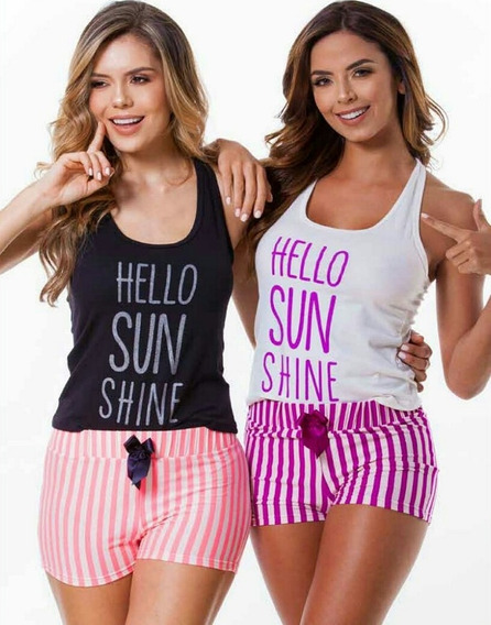 Pijama Hello Sun Multiuso Mujer Juvenil Short Blusa X 1 Und