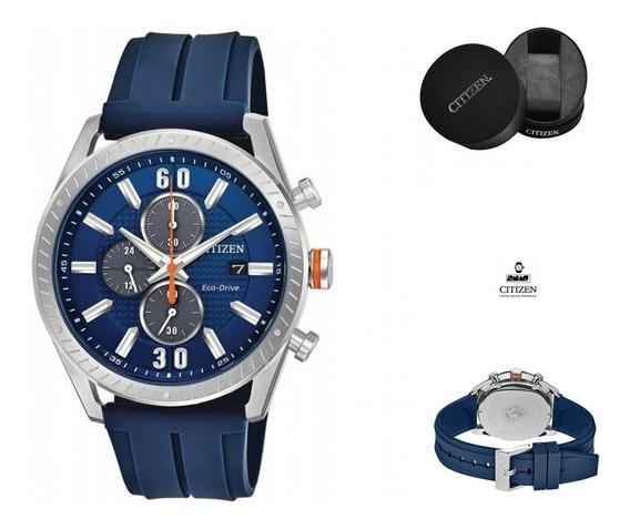 Reloj Citizen 60979 Ecodrive Ca0661-01l Azul Crono Full.fc
