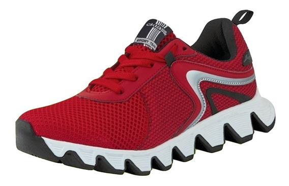 Tenis Ejercicio Cklass Rojo Flat Dtt13010 Textil Hombre