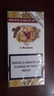Habanos Puritos Romeo Y Julieta Cigarros Cubanos Caja X5