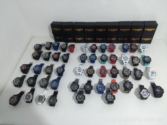 Kit Com 10 Relógios G-shock Atacado Promoção Barato