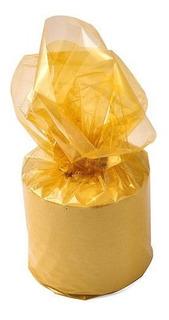 Papel Celofán Oro Metalizado. Pack X 10