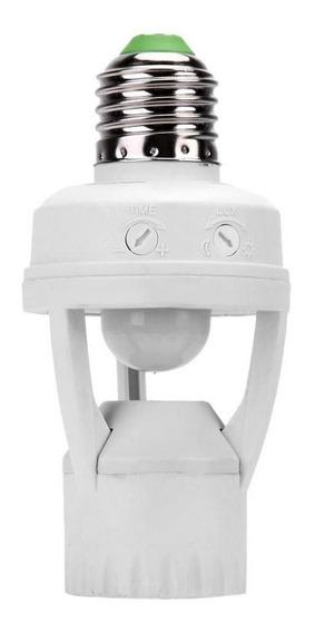 Soquete Sensor De Presença Lâmpada Bocal E27 Movimento 360º