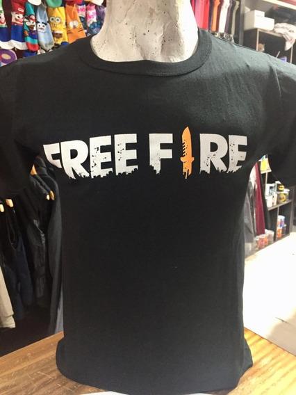 Remera Free Fire Gamer Niño Hombre