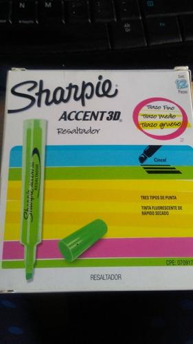 Resaltadores Sharpier Accent 3d Fluoresente Verde