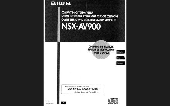 Manual Stereo System Aiwa Nsx-av900 Em Pdf