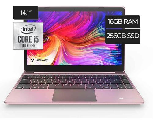 Laptop Acer / Gateway I5 256gb Ssd Ram + 16gb Azul Y Rosada