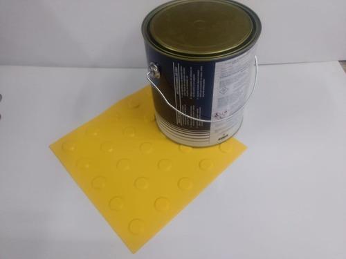 70 Pçs Piso Alerta Pvc Amarelo + 1 Lata Cola 2.8kg