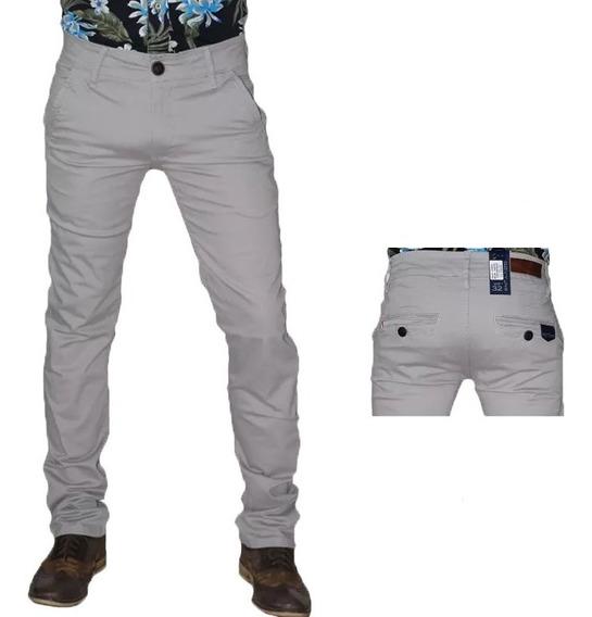 Pantalón Hombre De Vestir Slim Fit De Moda A