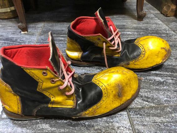 Antiguos Zapatos De Payaso Vintage