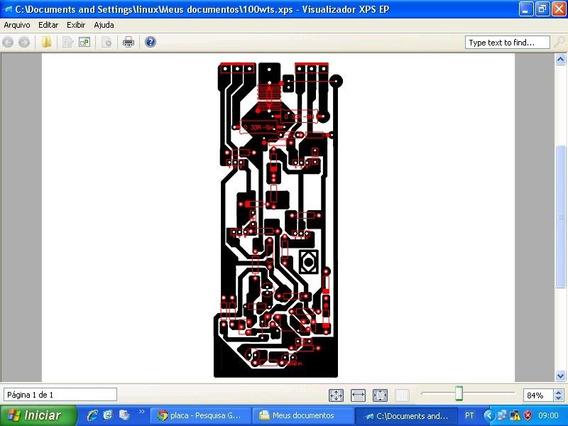 Placa Lisa Para Montar Amplificador Artesanal 100watts Rms
