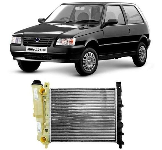 Radiador Uno Mille 2002 2003 2004 2005 2006 2007 2008 Sem Ar