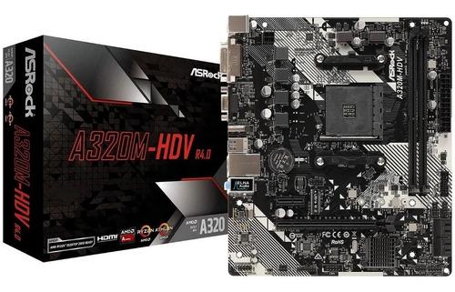 Board Asrock A320m-hdv R4.0 Amd Ryzen Athlon  9 Opiniones