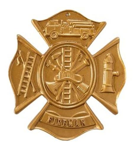 Imagen 1 de 1 de Montague Metal Products Fireman Placa De Pared Con Cruz De M