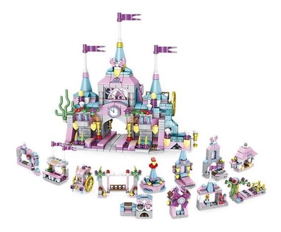 Lego Blocos Montar 12 Em 1 Cubic Castelo Princesa 572 Peças
