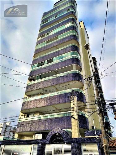 Apartamento Com 2 Dormitórios À Venda, 95 M² Por R$ 320.000,00 - Vila Guilhermina - Praia Grande/sp - Ap2288