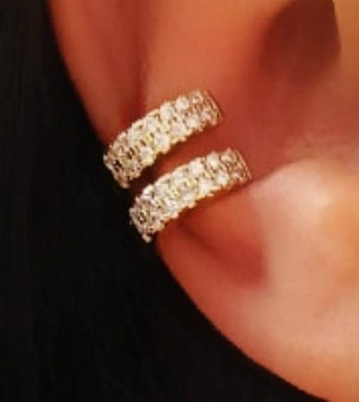 Piercings De Pressão Para Orelha Cartilagem Folheado Em Ouro