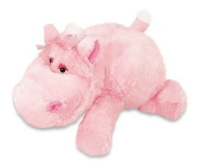 Hipopótamo Pelúcia Rosa Cibely Deitada 35 Cm Anti Alérgica