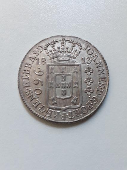 Moeda Antiga 960 Réis, 1813 Rio, Prata Patacão, 12xs/juros