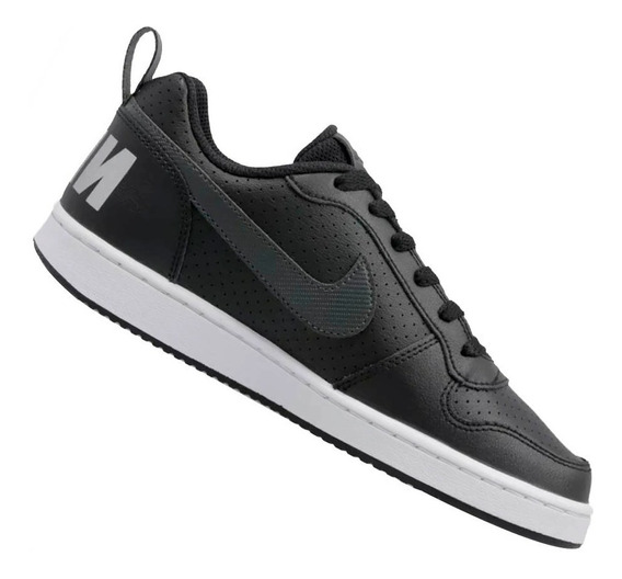 Tênis Nike Infantil Court Borough Low Preto Menino Bv0744001