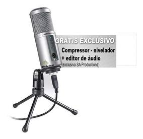 Microfone Condensador Audio Technica Atr2500 Atr 2500 Usb
