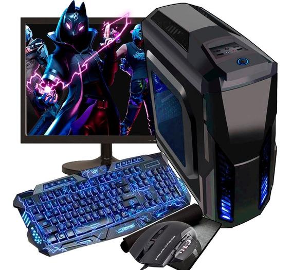 Pc Gamer Barato Completo 8gb Gtx 1050 + Tela 19 Fortnite