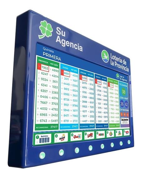 Tablero Cartel Quiniela Led Sistema Interactivo Sorteos En Vivo Automatico 43 Juegos Poceados Ultimas Cabezas Agencias