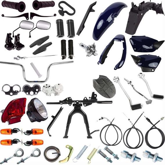 Kit Carenagem Farol Pisca Pedal Cg 125 Titan 2002 Azul