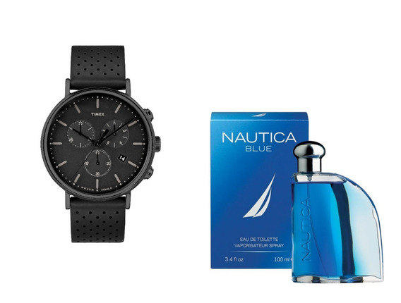 Reloj Para Caballero Timex Tw2r26800 Mas Perfume Envio Grati