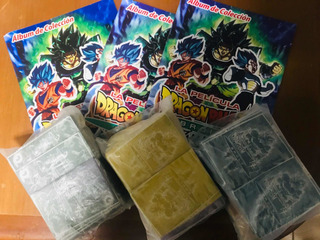 Barajitas Cartas Cromos Con Album Dragon Ball Z Broly