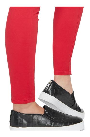Tênis Guess Feminino Slip On Sneakers Croco Preto Id347826