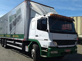 Mercedes Mb Atego 2425 Baú Plataforma Tras. Excelente Estado