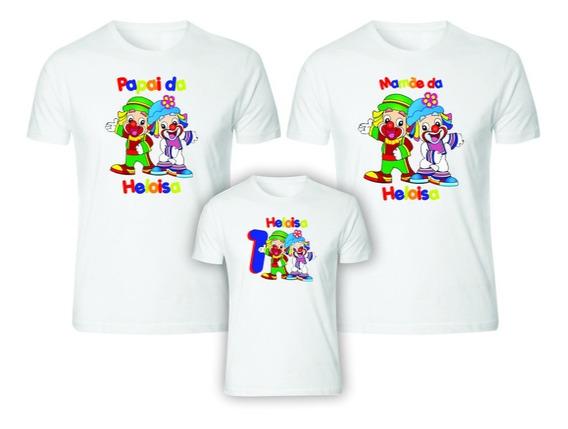 Kit 3 Camisetas Patati Patatá Personalizadas Aniversário