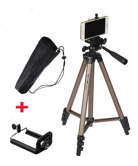 Tripé Universal Telescópico Para Câmera E Celular Smartphone