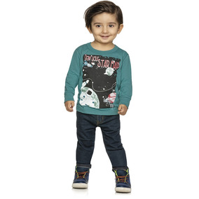 Camiseta Infantil Masculina Em Meia Malha Elian 01 A 08 Anos