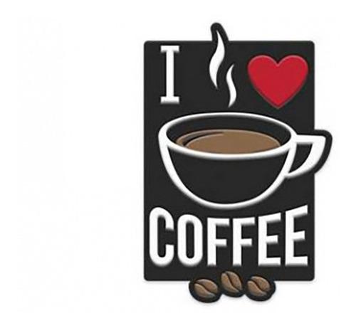 Imagem 1 de 1 de Placa Aluminio Expresso Coffee Preto/branco 22x0,6x35 Cm